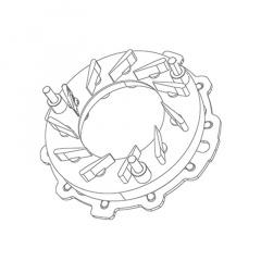 Geometrie cod 3000-016-014 pentru turbina model GT2052V