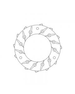 Geometrie pentru Turbina Model GT1541V  GTA1541V