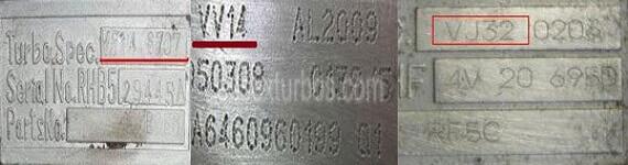 Identificare cod turbina IHI